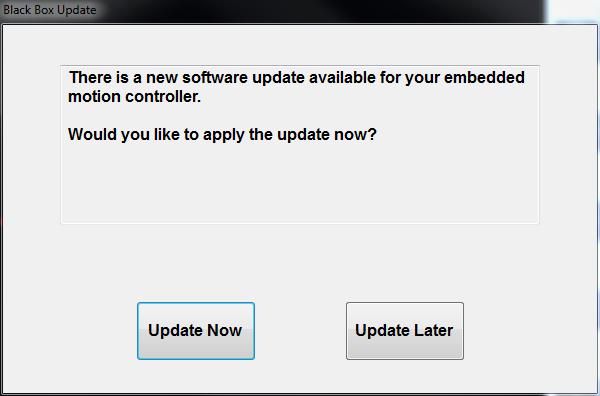 Updating Pathfinder Black Box Update Screen